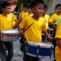 Drummers from the elementary school